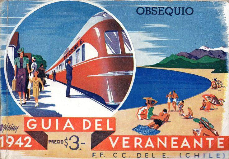 Guía del Veraneante 1942.  F.F. CC. DEL E. (CHILE)