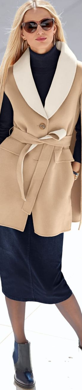 Madeleine Fall Pure Wool Coat in Natural