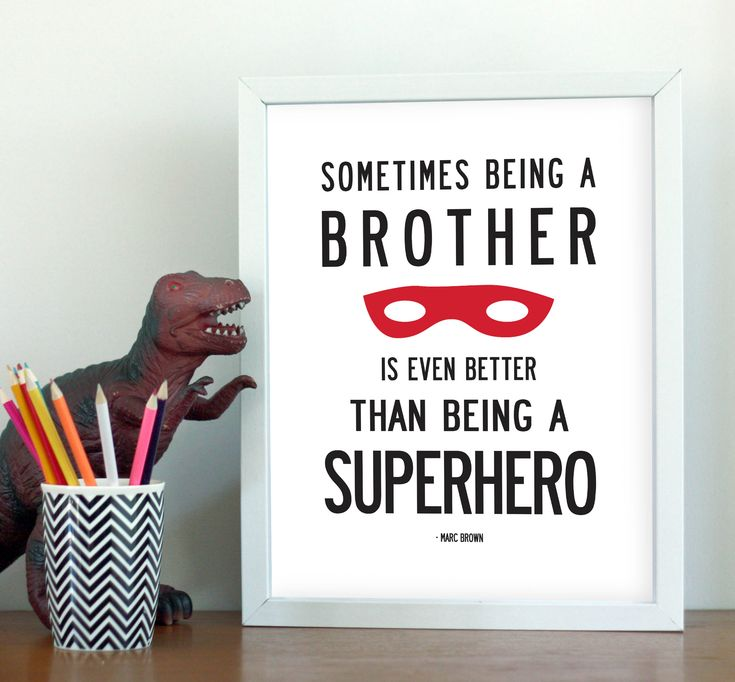 """""""Sometimes being a Brother is even better than being a Superhero"""" Read More →"""