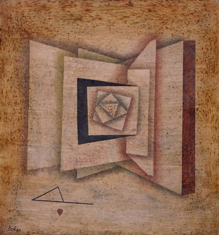Paul Klee, Open Book, 1930. Water-based paint and varnish over white lacquer on paper, mounted on canvas, 18 x 16 3/4 inches (45.7 x 42.5 cm)