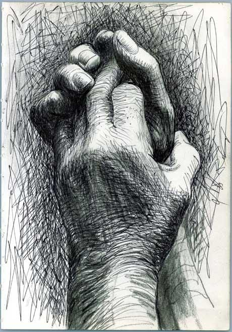 Again by Henry Moore but the style of drawing is more similar to mine. Also i like drawings of hands.