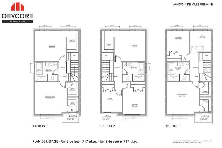 Plans maison de ville qc maison de ville devcore