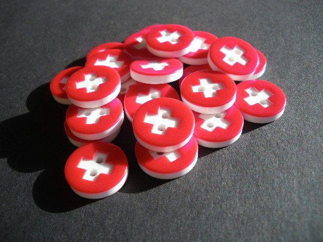 5x Schweizer Flagge von WARENHAUS...der schönen Dinge  auf DaWanda.com