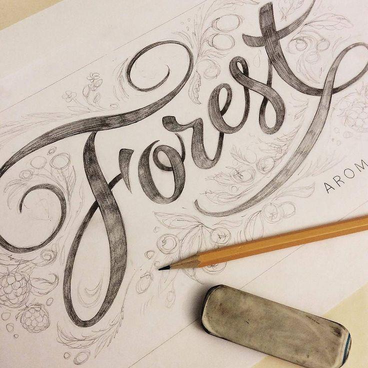 Beautiful type sketch by @julia_zhdanova - #typegang - typegang.com | typegang.com #typegang #typography