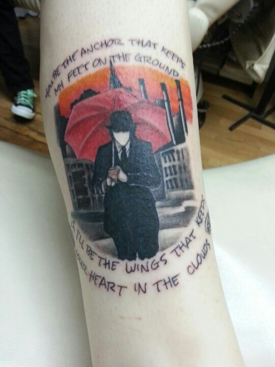 Mayday Parade tattoo. :) I'm getting lyrics from this song but I think I'm gunna get it on my thigh