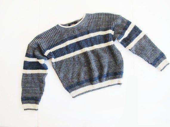 Vintage 90/'s striped pattern sweater