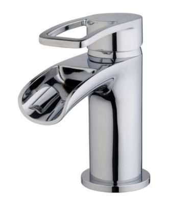 Cooke & Lewis Saverne Basin Mixer Chrome Effect, 0000004068006
