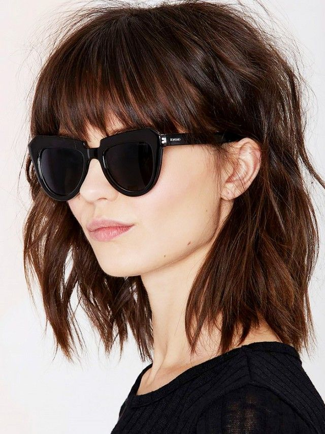 Shoulder Length Hairstyles With Bangs This Hack Is A Game Changer For Thinhaired Girls  Pinterest  Game
