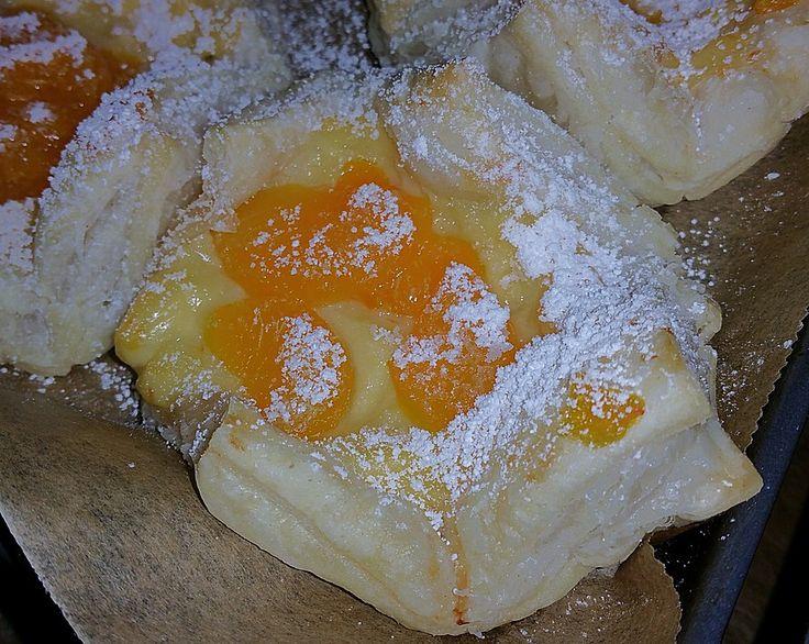 Schnelle Blätterteig - Vanillepuddingteilchen 4