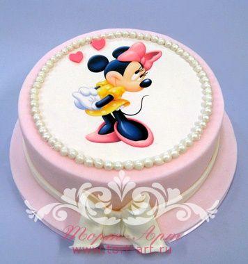 """Детские торты — Детский фото торт """"Минни Маус"""""""
