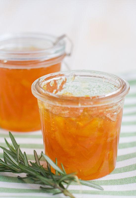 Receta de mermelada de naranja al romero
