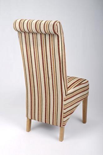 Eton Gold Stripe Dining Chair Striped Chair Dining
