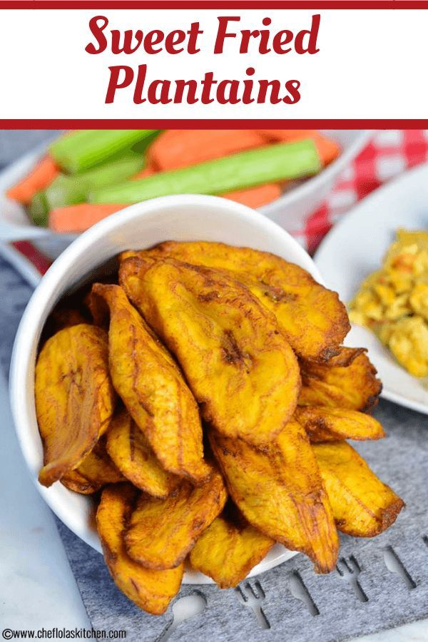 Sweet Fried Plantains Plantains Fried Plantain Recipes Baked Plantain Chips
