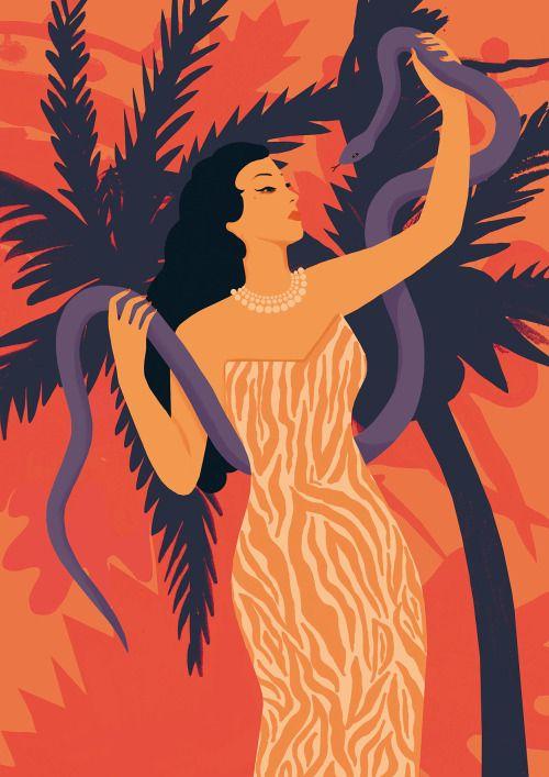 Beautiful illustration of Yma Sumac!