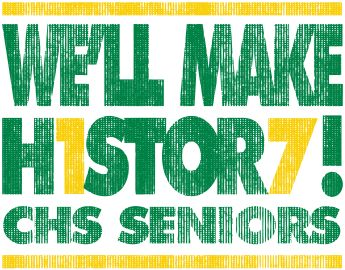 Senior Class of 2017 custom t-shirts.  T-Shirt Design - Letter Block (desn-247n7)