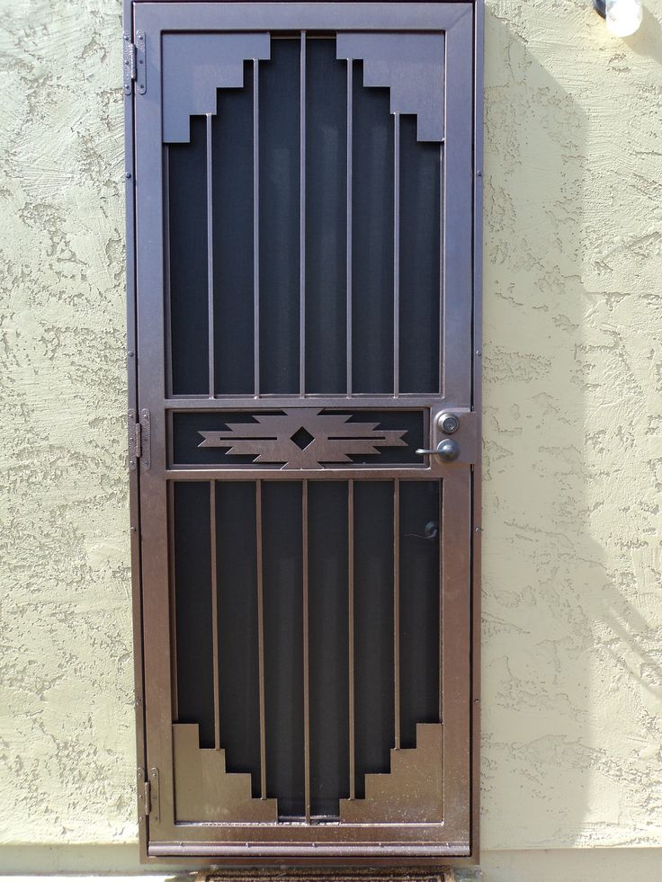 DCS Industries, LLC security screen door.  #securitydoor  #ScreenDoorsPhoenix