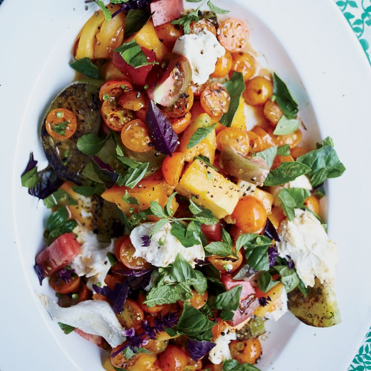 Grilled Tomato Salad with Mozzarella and Unagi Sauce | Food & Wine