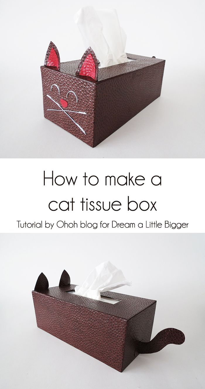 Ohoh Blog - diy and crafts: How to make a cat tissue box cover