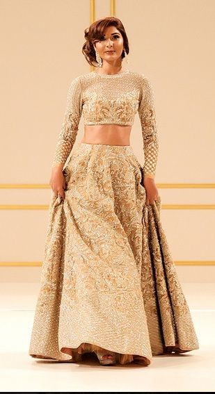 Faraz Manan Cream Wedding Lengha 2016- Buy this Bridal Lehenga choli- www.gujaratidresses.com