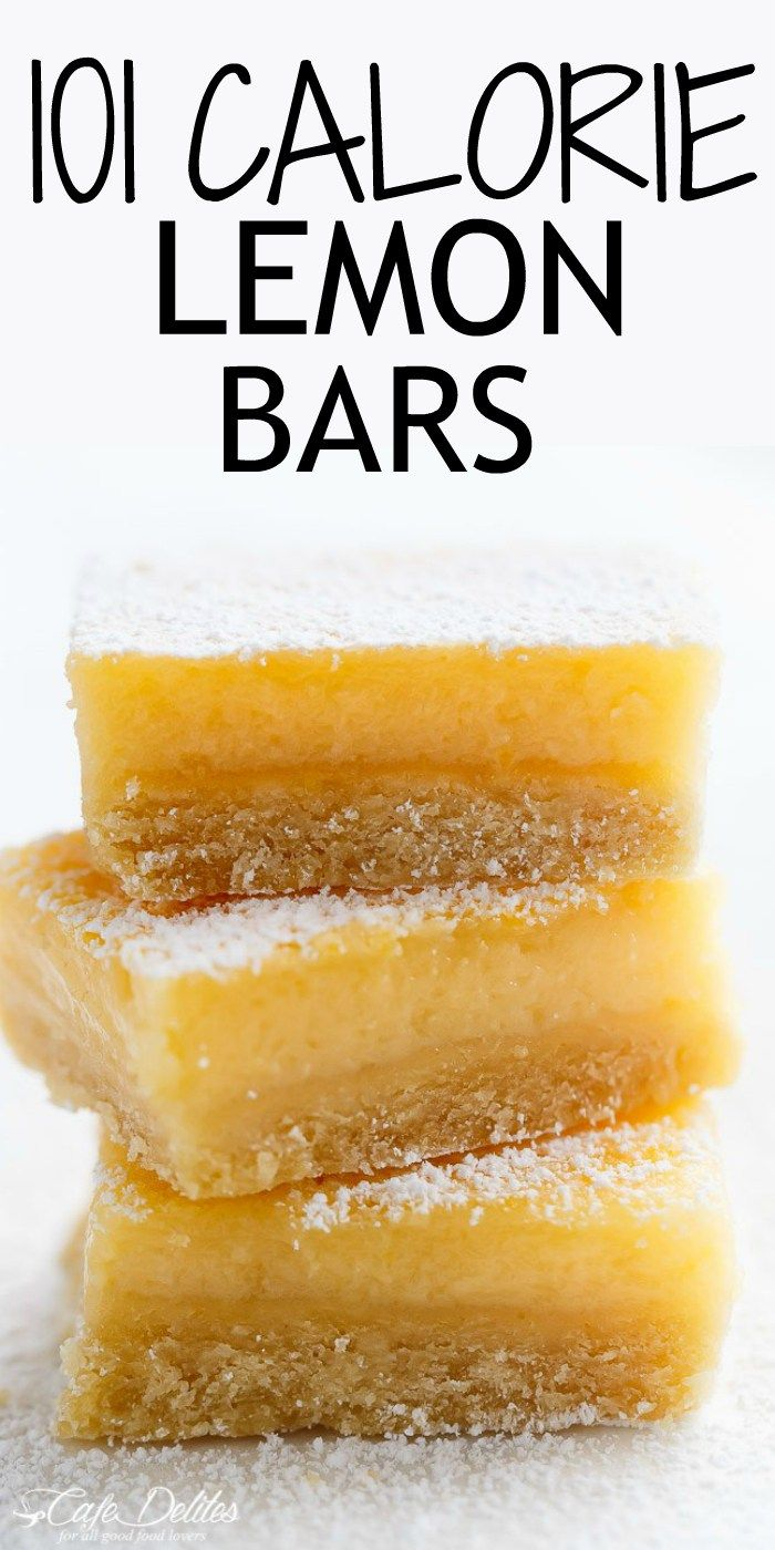 101 calorie Lightened Up Lemon Bars are the perfect dessert and taste so sinful without the guilt! You won't believe they're lightened up! | cafedelites.com