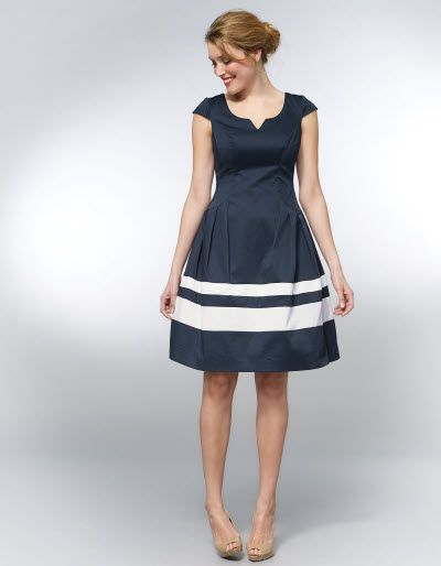 Love this pepperberry Stripe Hem Dress, perfect for a wedding this September with a fab nautical fascinator i think!