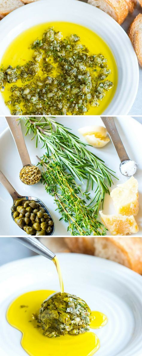 This easy and group-friendly olive oil dip comes together quickly and it never fails. I mean, who doesn't want to dip bread into an herby, garlicky, parmesan cheese infused olive oil? #appetizer