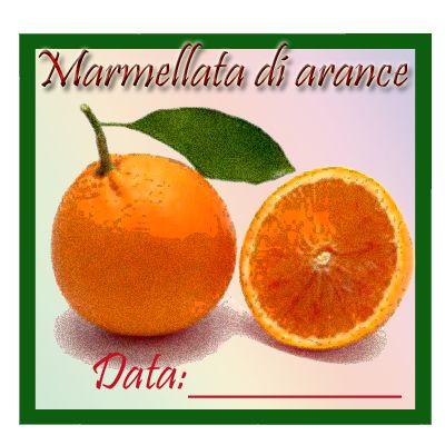 Etichetta quadrata marmellata di arance, download.