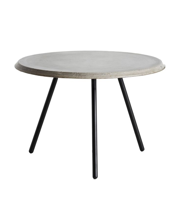 Soround coffee table, Ø60 high concrete