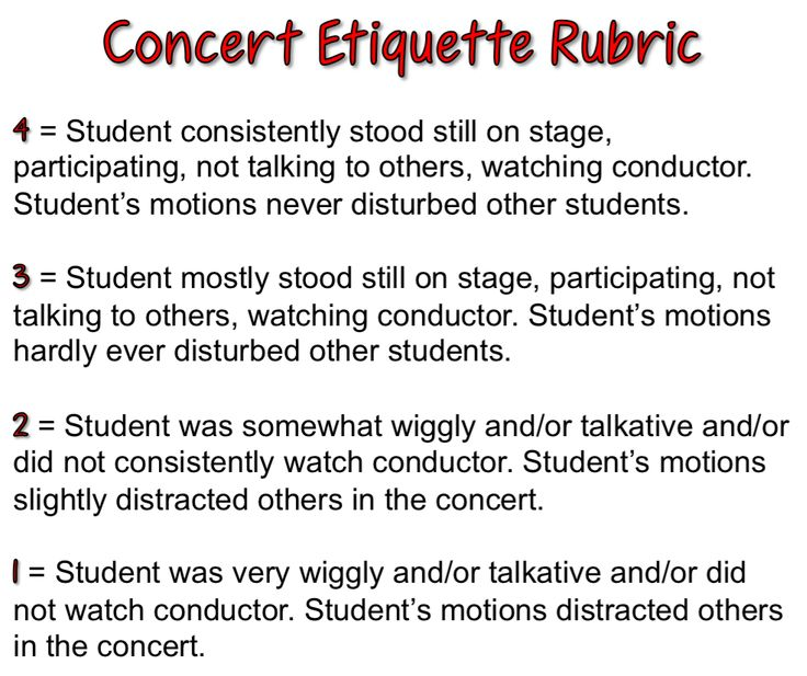 I love the idea of concert etiquette for PERFORMERS not just the audience!