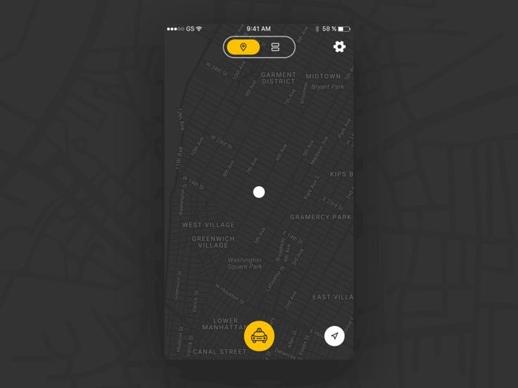Taxi App Transitions