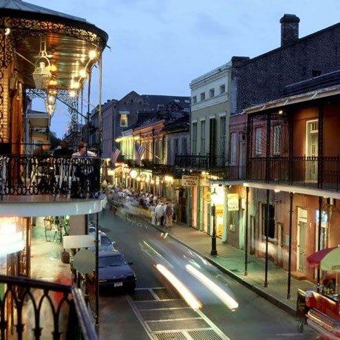 Bourbon Street, New Orleans  Actually got to stay in a hotel overlooking the street