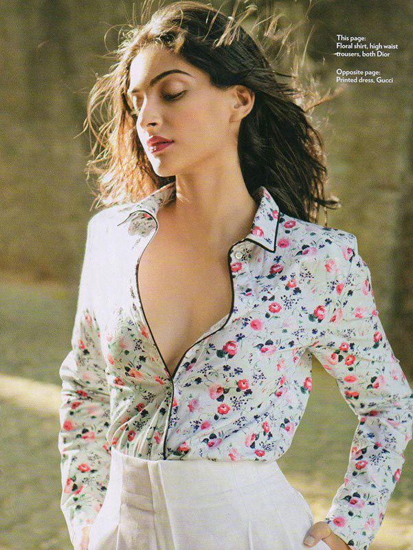 Hot Sonam Kapoor Sexy Photoshoot for Marie Claire Magazine 2013