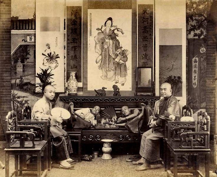 Smoking Opium | Opium Smoking in China circa 1890