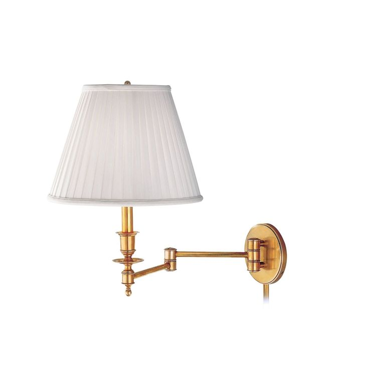 Hudson Valley Newport Polished Brass Metal Swing Arm Wall Sconce, Gold