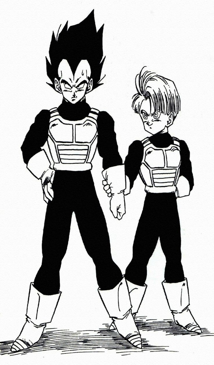 Vegeta and Trunks. Damn, preteen Trunks has always been one of my faves. Wish they'd show him and Goten at this age in Super!