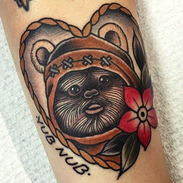 ewok+star+wars+tattoo-7