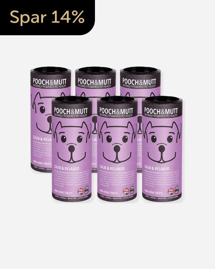 Tilbud på sunde og allergivenlige hundegodbidder af høj kvalitet fra Pooch & Mutt. Håndlavede, lavt kalorieindhold, glutenfri og formet som et kødben.