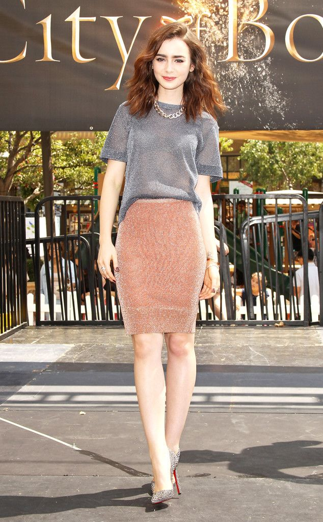 Mortal Instruments star Lily Collins looks immaculate at an event for her new film in Glendale, Calif. #fashion