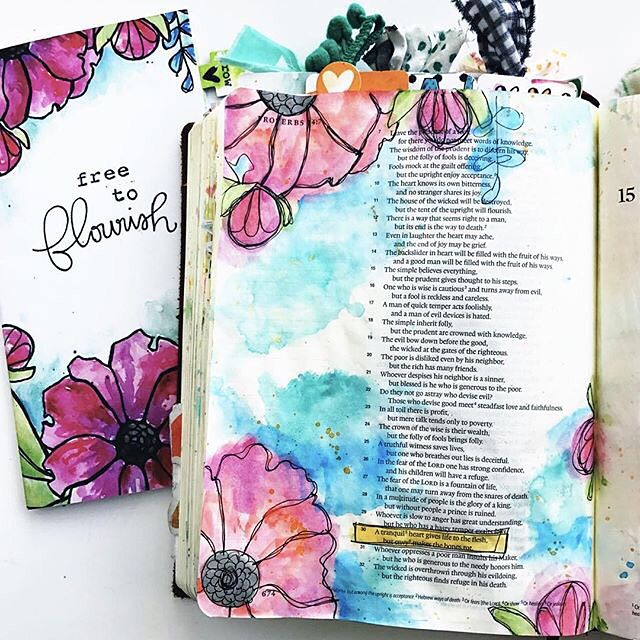 Oh my! The absolutely beautiful art that you create from the DaySpring.com #IllustratedFaith kits always takes our breath away!