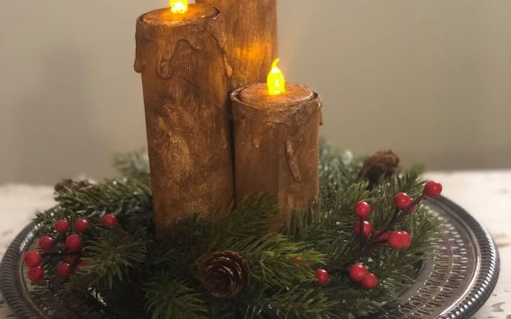Diy Paper Towel Roll Candles The Shabby Tree Paper Towel Roll Candles Rolled Candles Paper Towel Crafts
