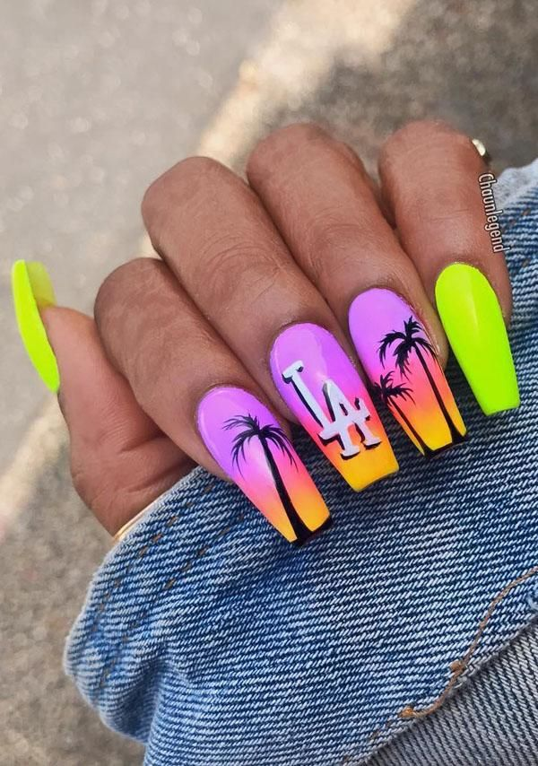 59 Amazing Palm Tree Nail Designs For Summer Palm Tree Nails Tree Nails Nails