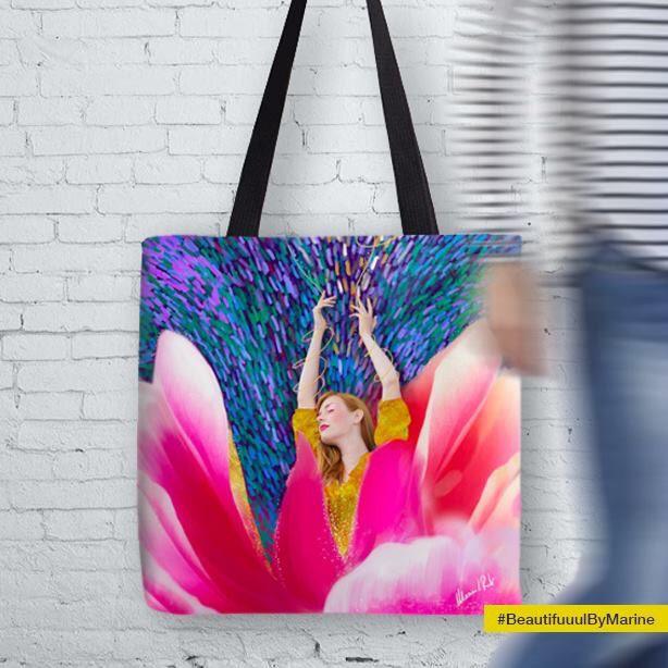 Sunshine Blossom Tote Bag created by @BeautifuuulByMarine:  http://rdbl.co/2nfqEoL