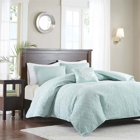 Quebec provides a traditional new solid look to your space. The 2-in-1 duvet cover has a quilted top and button closure providing the option to use as a lightweight coverlet by simply buttoning up the bottom or fill with a comforter insert for a warmer option. A duvet cover is a protective cover for your comforter, most likely for your down comforter. Sometimes it's referred to as a comforter cover. Duvet covers are not filled. It has an opening where you can insert your comforter. Filler…