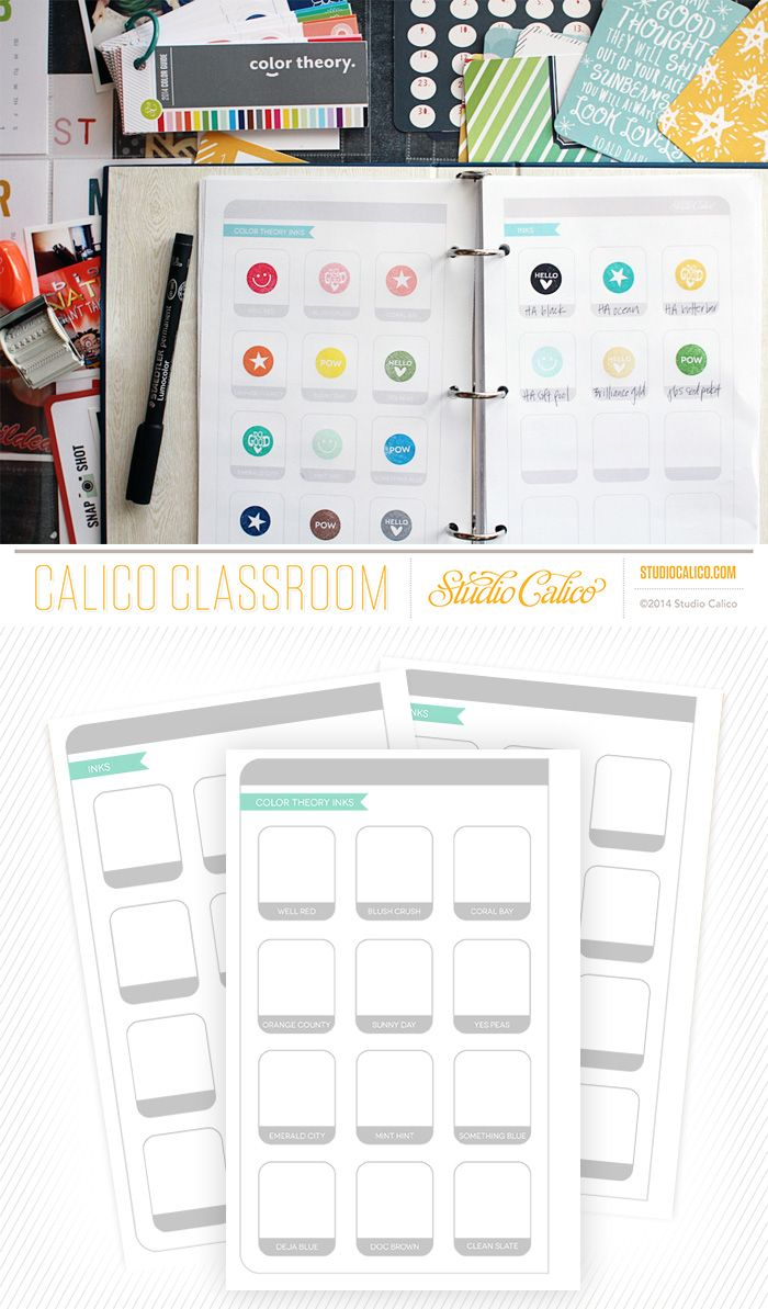free printable color planner pages