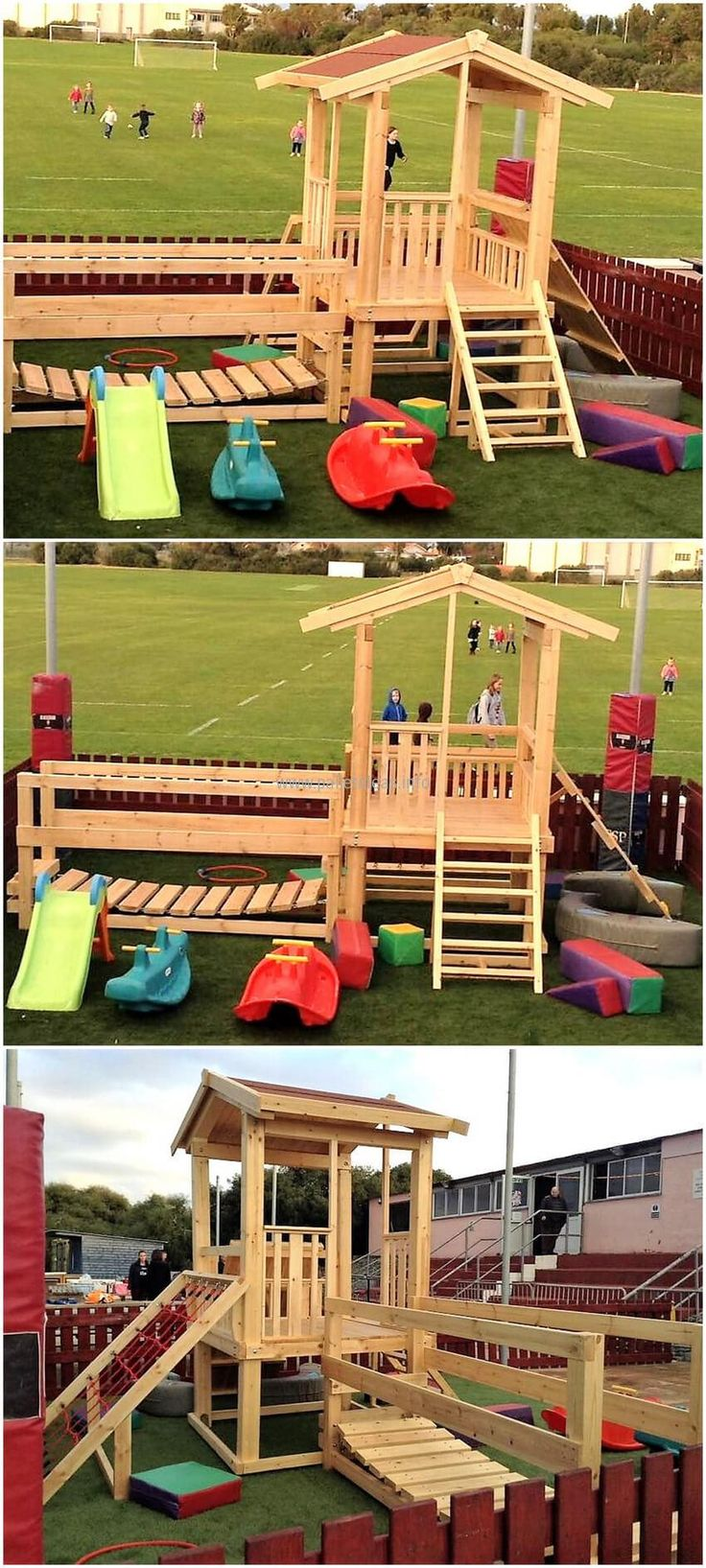 1001 pallets pallet kids playground here is a home made playground - Kids Fun And Play Ideas With Recycled Pallets