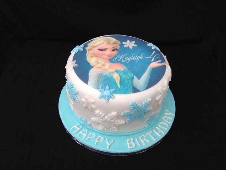 Disney Frozen Birthday Cake - Elsa frozen cake