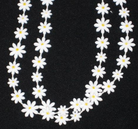 "1960s Sarah Coventry Long 30"" Daisy Necklace Free US Shipping by GoodBuyForNow on Etsy"