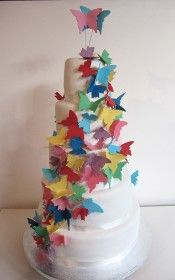 wedding cake: Butterfly