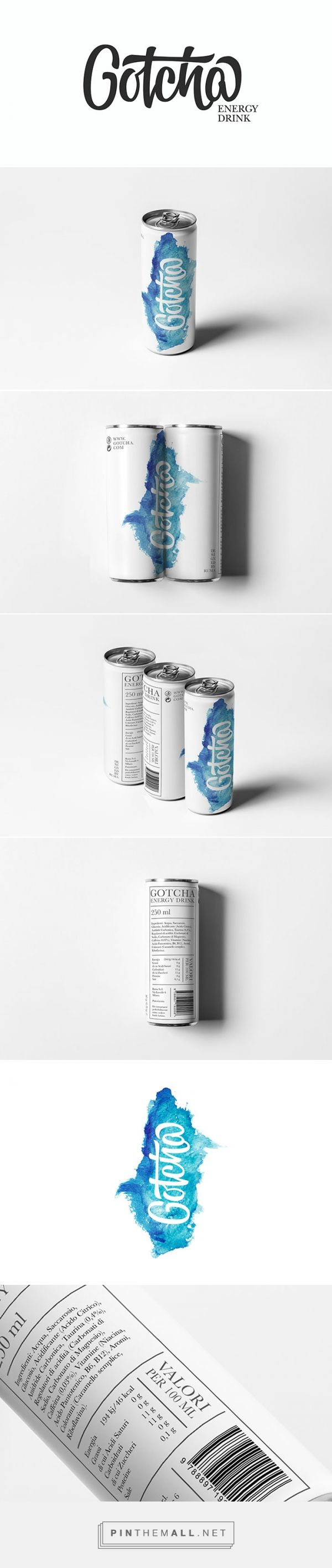 GOTCHA energy drink by Ruggero Magrì (student project). Source: Daily Package Design Inspiration. Pin curated by #SFields99 #packaging #design