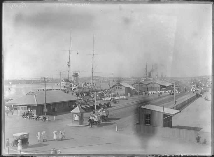 154043PD: School children visit Dutch warships at Fremantle, November 1910  https://encore.slwa.wa.gov.au/iii/encore/record/C__Rb4576496
